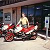 Mark Cummings and his New MotoGuzzi LeMans SE.