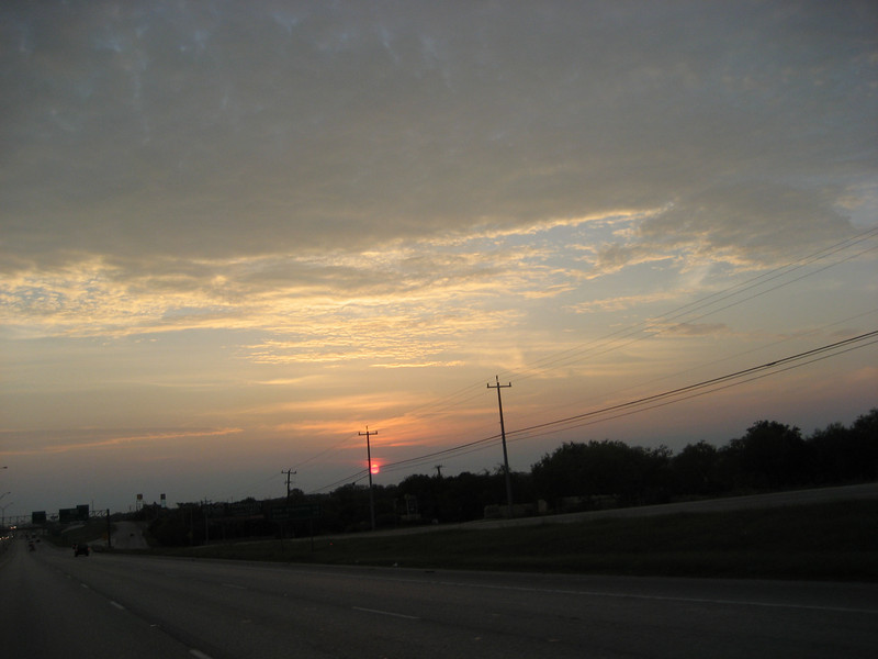 Sunrise somewhere in Texas.