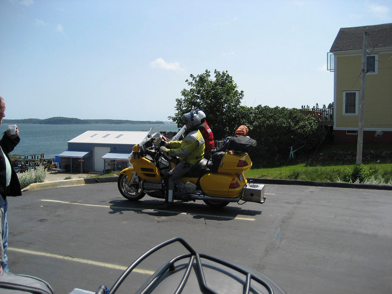 Greg and Jeremy pull into Eastport
