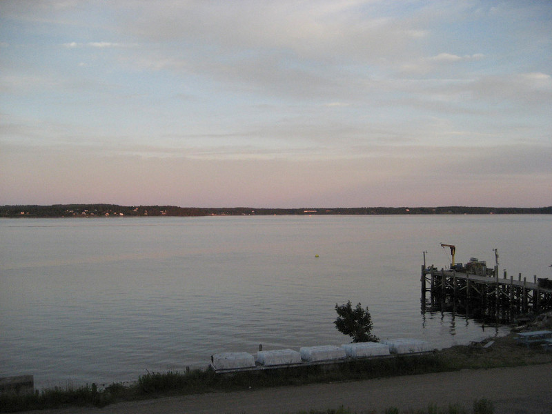 View from the deck of the hotel in Eastport