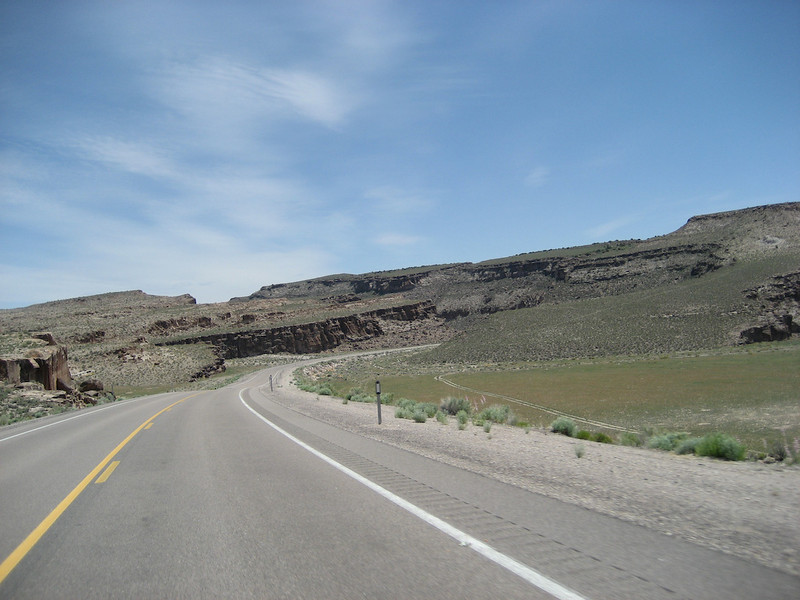 Along SR-318 north of Hiko, NV there's a pleasant break in the straightness.