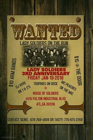 Lady Soldiers 3rd Anniversary Party