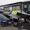 Amogh at Rossi's/Rossi fan's motorhome in the paddock