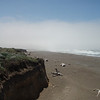The fog rolled in while we were sitting on the bluff and socked in the coast all the way to Mendocino