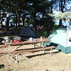 Campsite at Lake Mendocino. We rode over to the coast this morning to get out of the heat.