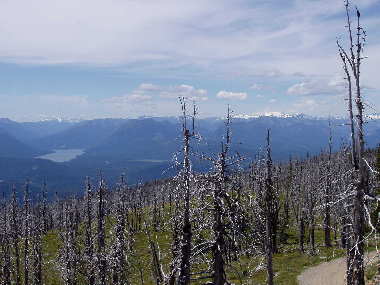 Northern most photo.  Lake Wenatchee is the leftmost lake, and Fish Lake is the little sliver in the middle of the picture.