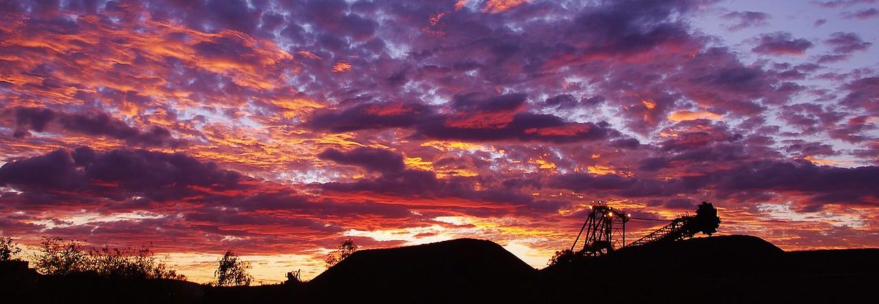 Stockpile sunset