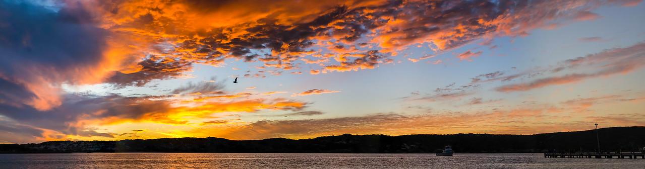 Kalbarri river sunset