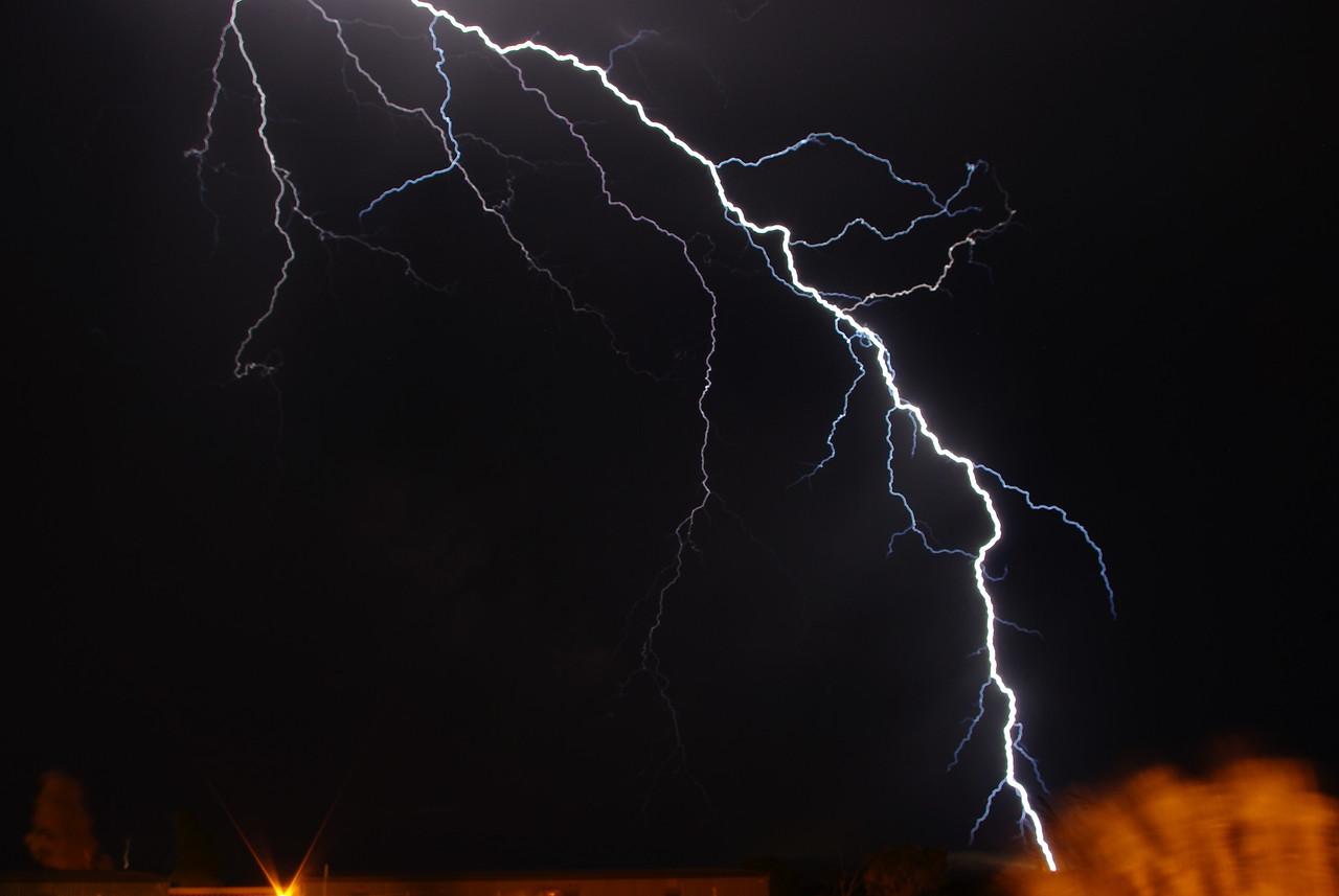 very close lightning strike. Hope Downs, WA