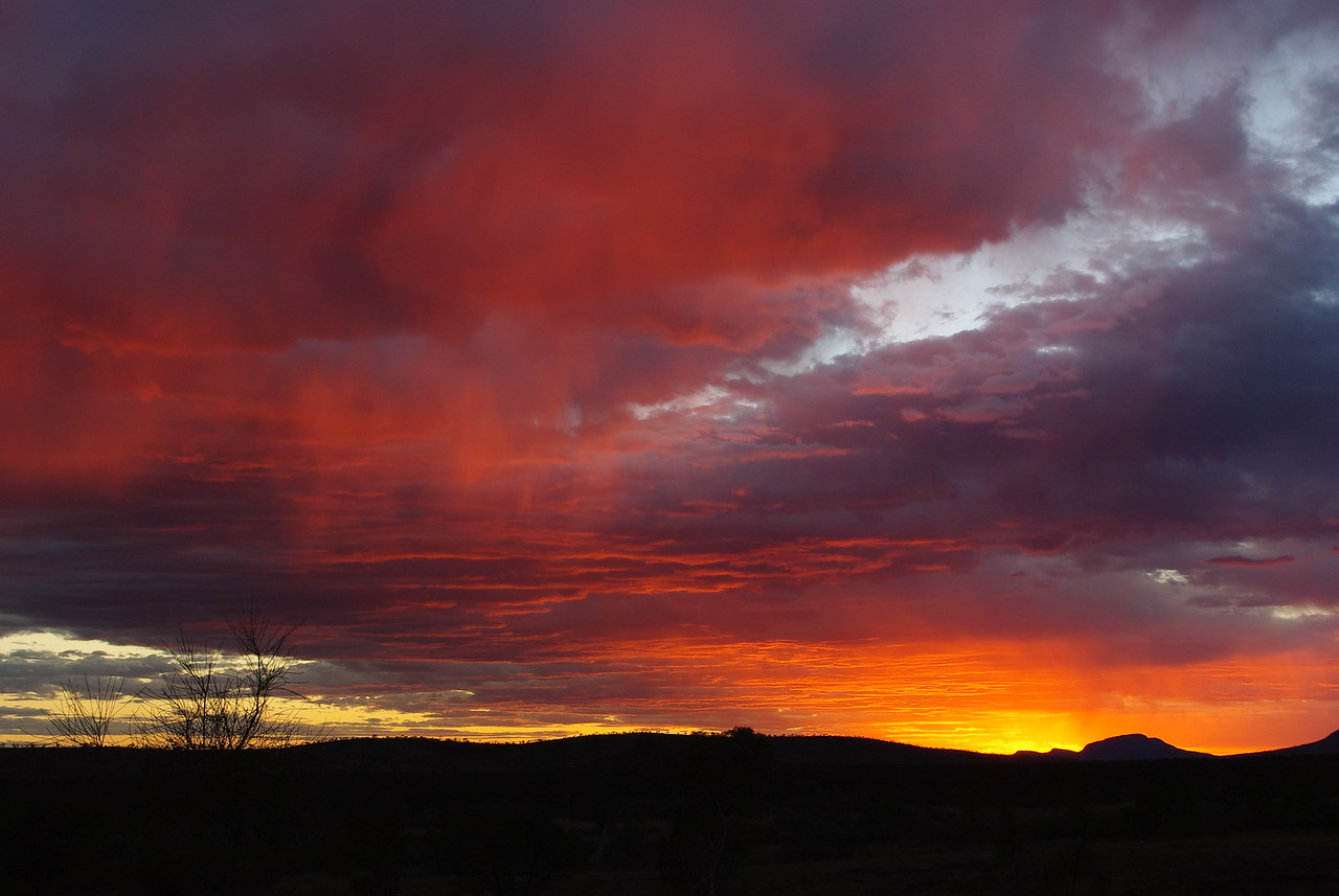 Pilbara summer sunset,