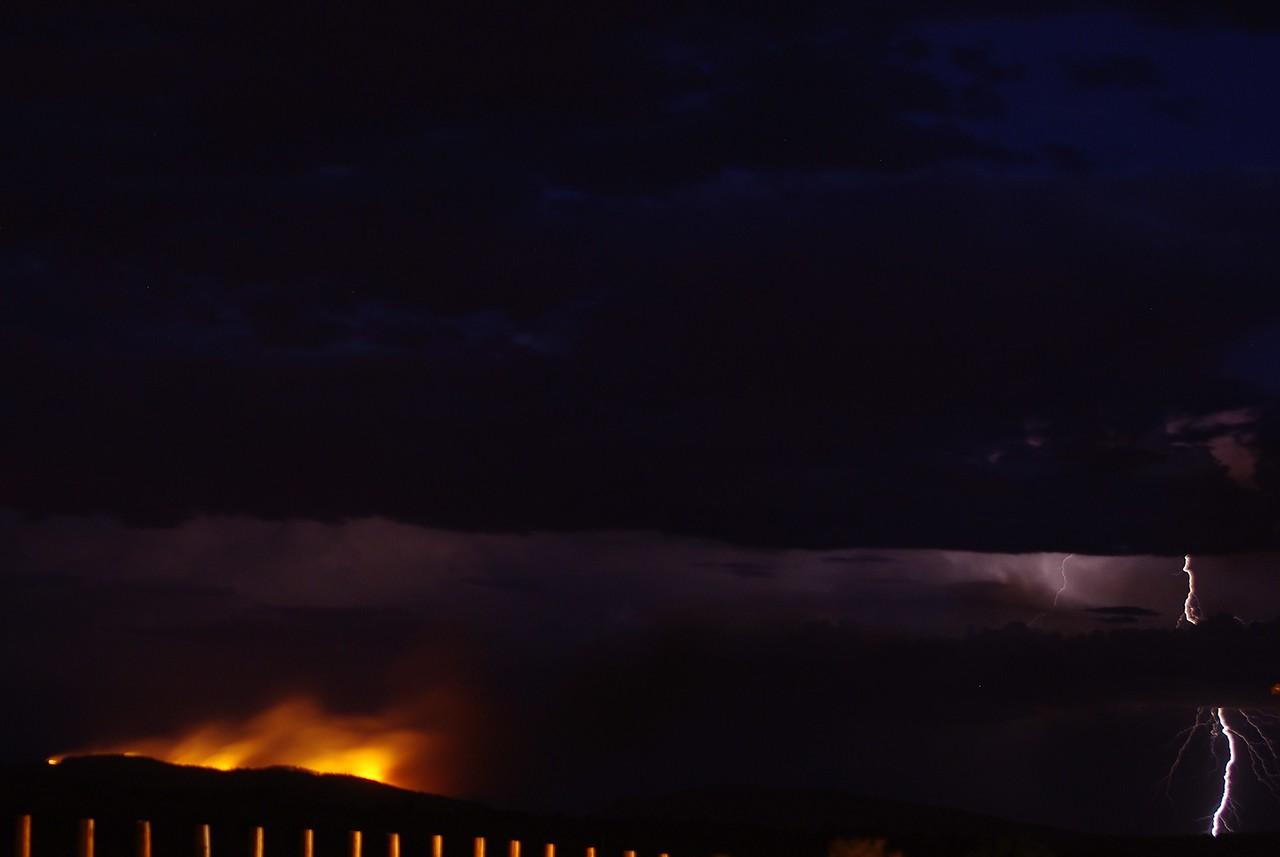 Fire and lightning, Hope Downs, pilbara, WA.