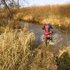 To this rider this was a dried up creek, to me it was a raging river. <br /> <br /> Once I rode in the water, I did not even get my feet soaked.