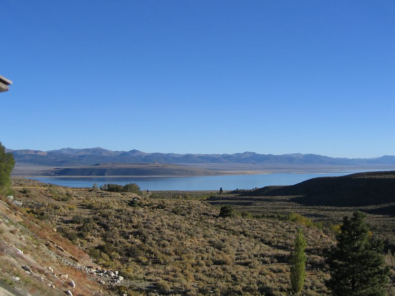 Mono Lake. From the back porch of my hotel room.
