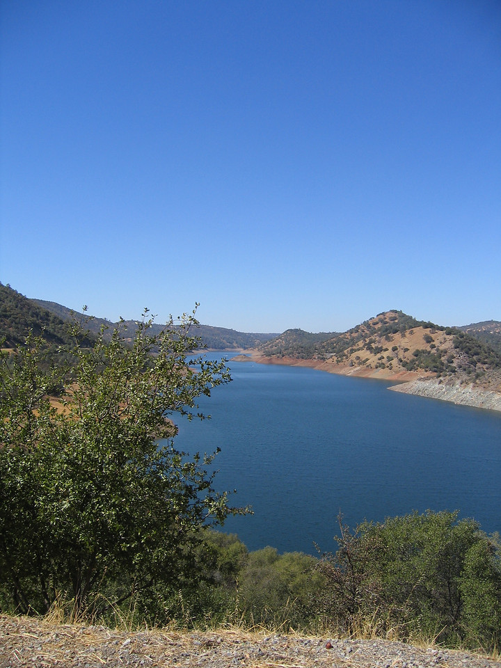 Here were on the way into Yosemite. At Lake Don Pedro on Highway 120.