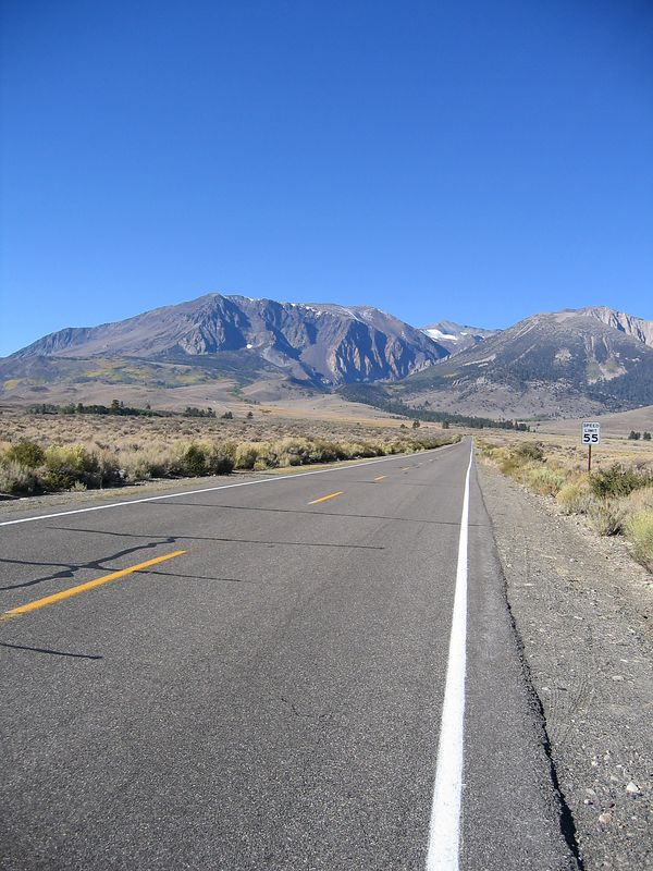 This is looking down the June Lake Loop. A spectacular ride for  fall colours.