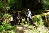 Sarath and Gabriele taking a rest break.