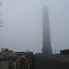 The monument at High Point.   Pretty foggy out today, no point in climbing the tower.