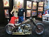 Bill's new girlfriend at the bike show.   Too much brightwork on the bike for me.