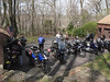 View of the bikes gathered at Don's house.