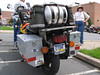 The back end of our adventure touring gowldwing.  Note the beer keg fuel cell.