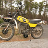Yamaha DT250, used as the builders inteneded out on the trail.  <br /> Found in the parking lot of the Pic-A-Lilli on Rt. 206.
