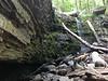 The waterfalls at Ringing Rocks Park