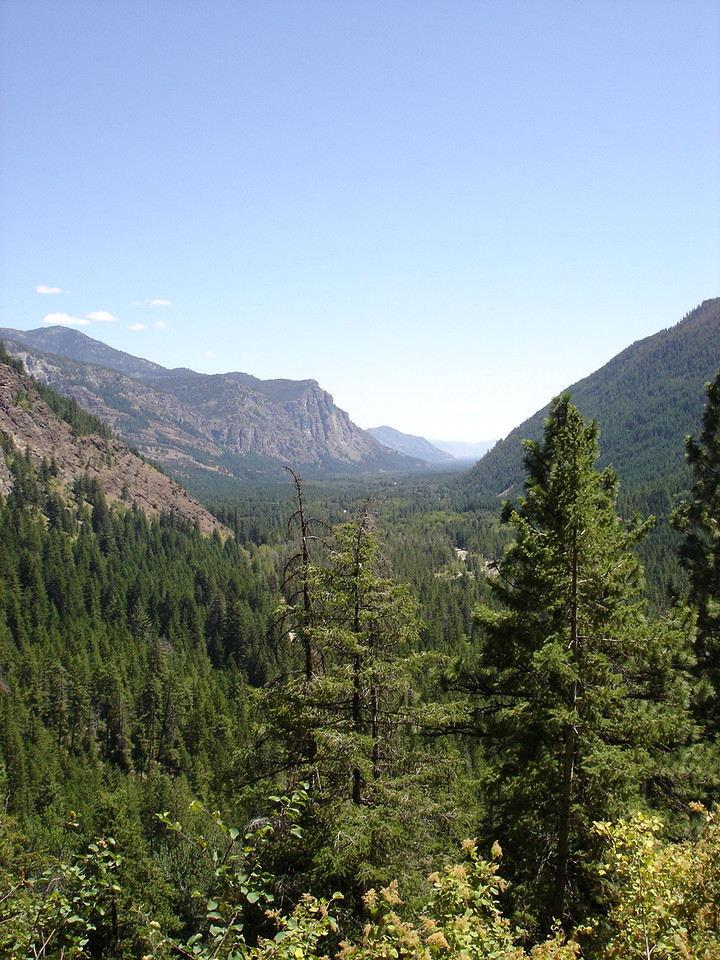 """Looking towards Mazama and the """"Goat Wall"""""""