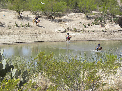 Boquillas Canyon overlook.  Boquillas residents cross Rio Grande by horse to sell crafts in parking lot.  The Park Ranger said it was a $200 fine for possession of any of there goods.