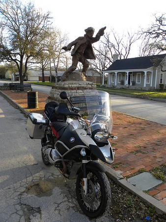 Billy the Kid statue in Hico Texas