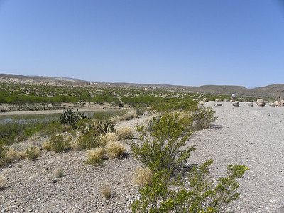 Boquillas Canyon overlook.  Boquillas Mexico is in the distance.