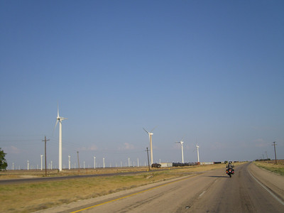 Day 1 - Heading through west Texas and the windmill farms