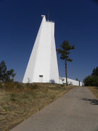 The exterior of the solar telescope.  The majority of it is actually below the ground.