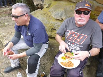 Rob and Bob enjoying lunch