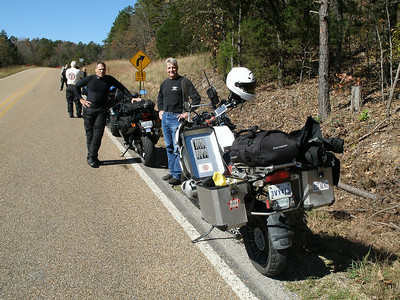 Roadside stop at the north end of Push Mt Road.