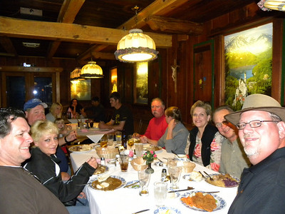 Dinner in Eureka Springs at the Bavarian Restaurant.  Doug, Tammie, Rex, Rick, Linda (???), Val, Jim and yours truly!