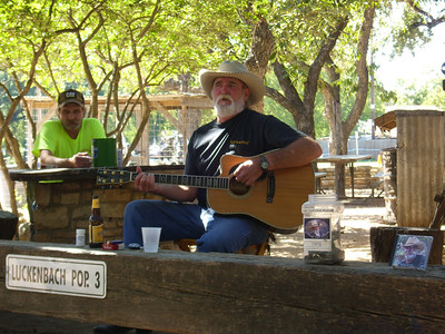 Some Friday afternoon entertainment with Jimmy Lee Jones in Luckenbach, Texas!