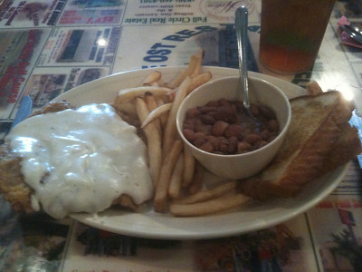 Chicken Fried Steak at the OST (Old Spanish Trail) Restaurant in Bandera.