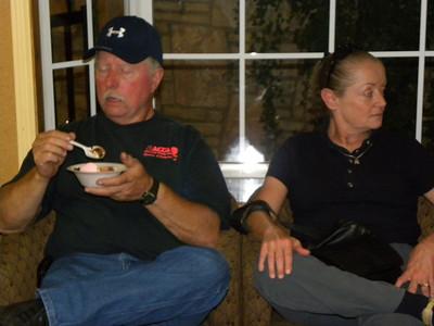 The Friday night Ice Cream Social.  Rick and Linda Butler.