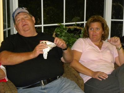 The Friday night Ice Cream Social.  Rex and Diane Adams.