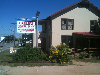 Thursday lunch stop at Laird's BBQ in Llano.  My preference over Cooper's!