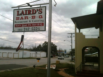 A favorite of mine...Laird's BBQ in Llano for lunch