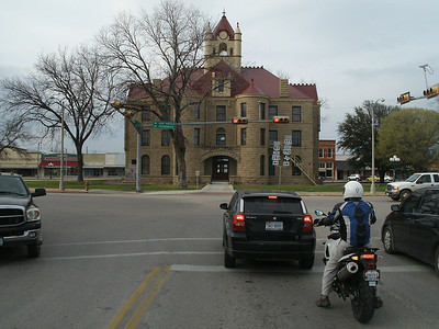 The courthouse in Brady