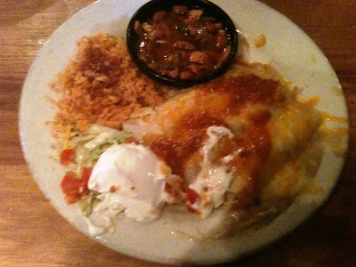 Chicken Enchiladas at Tia Juana's Saturday night.