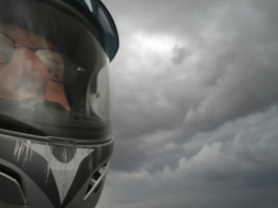 We were heading west to Grants, NM and the sky looked nasty.  It was good that the storms stayed to the south of us.