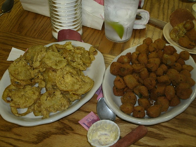 Fried Green Tomatoes and Okra!