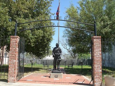 The Confederate Memorial Plaza in Anderson.