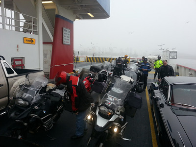 Taking the ferry from the Bolivar Peninsula to Galveston Island.
