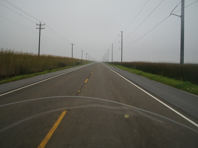 Foggy morning heading from Beaumont to Ingleside.