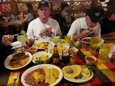 Mi Familia for dinner.  Jeff looks mesmerized by the great Mexican food!