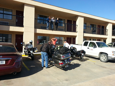 Arrival at the Best Western in Brady.